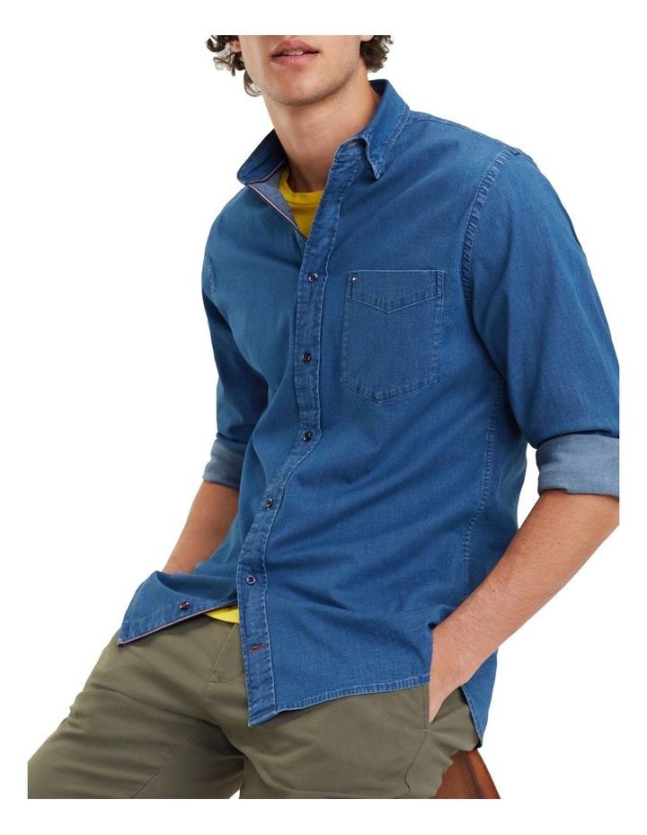 Organic Stretch Denim Long Sleeve Shirt image 1