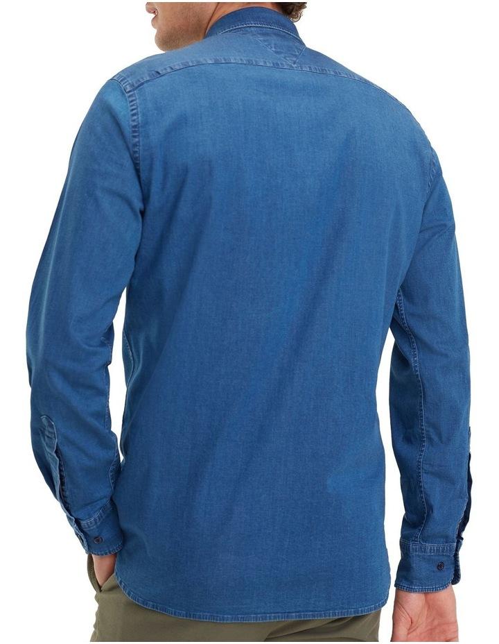 Organic Stretch Denim Long Sleeve Shirt image 2