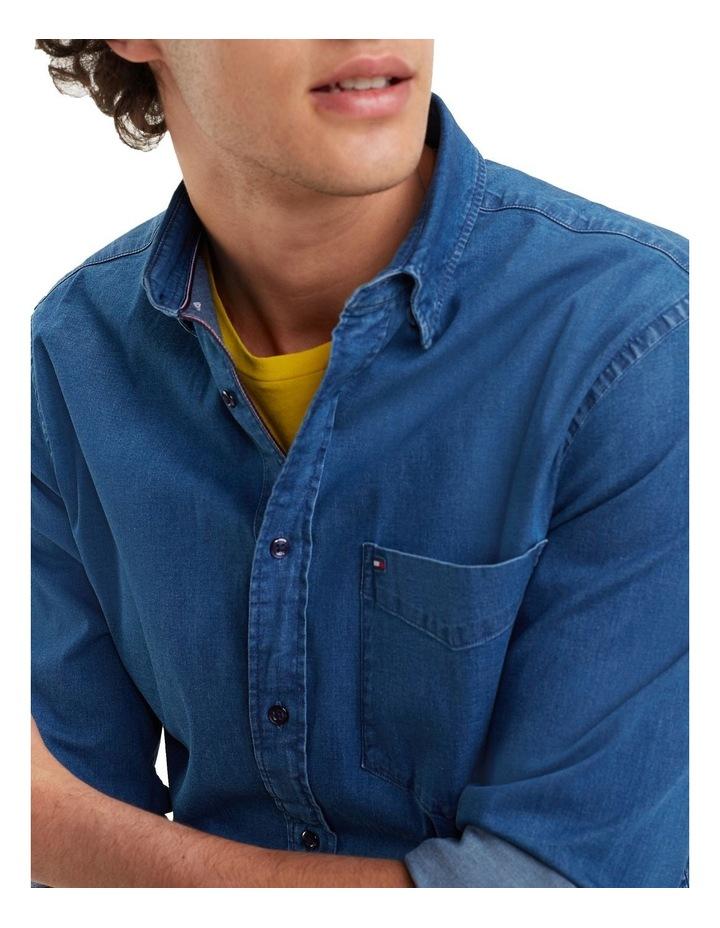 Organic Stretch Denim Long Sleeve Shirt image 4