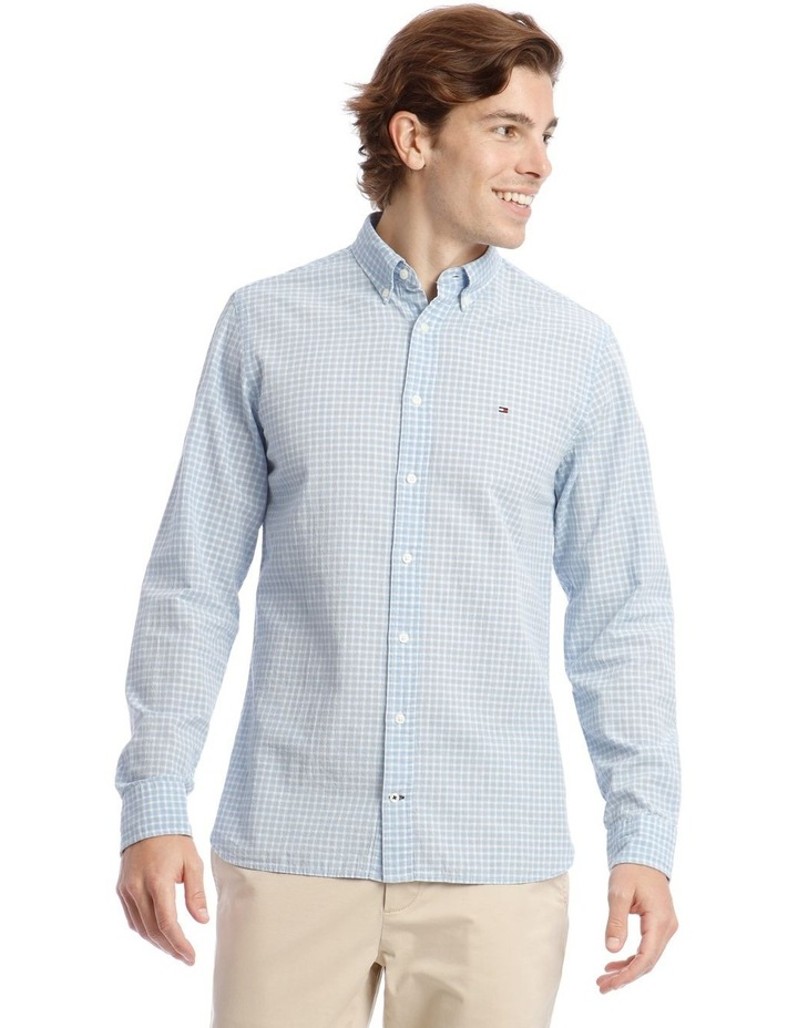 Wcc Crepe Poplin Check Long Sleeve Shirt image 1