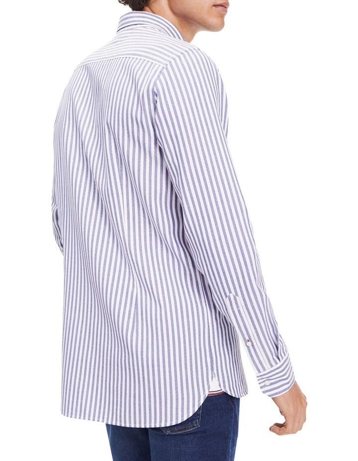 Slim Textured Stripe Long Sleeve Shirt image 2