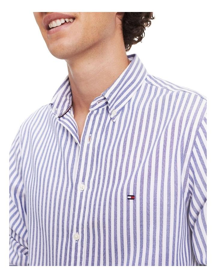 Slim Textured Stripe Long Sleeve Shirt image 3