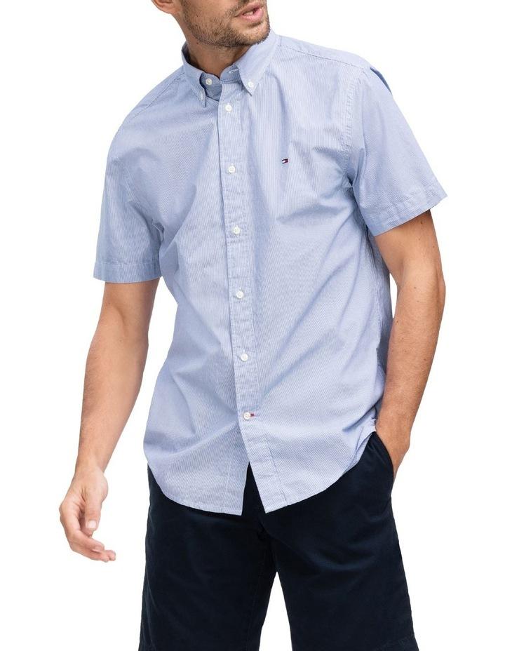 Slim Fine Stripe Short Sleeve Shirt image 1