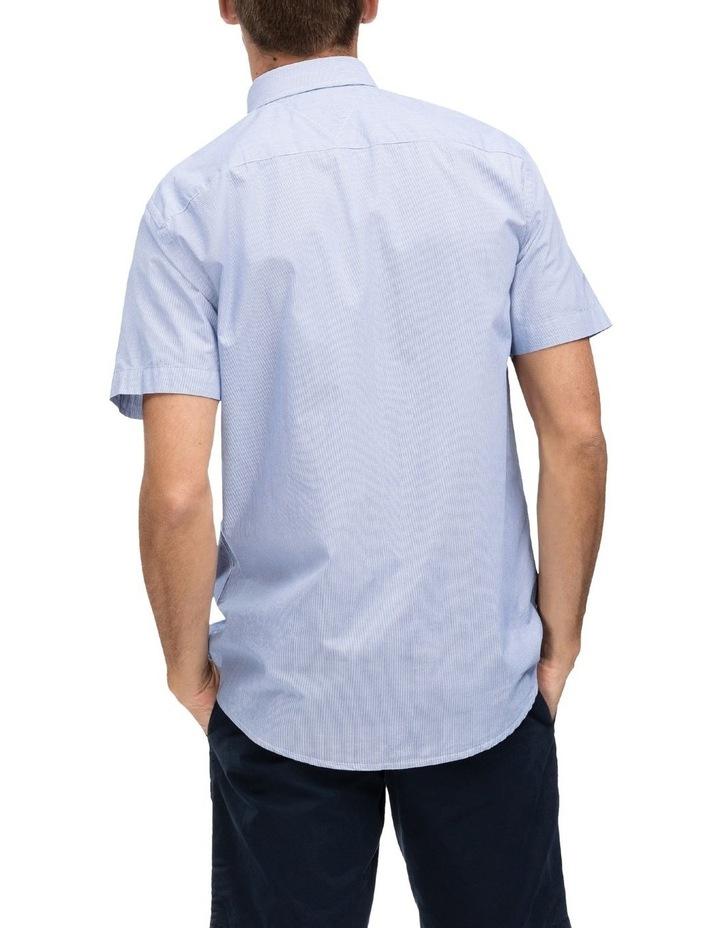 Slim Fine Stripe Short Sleeve Shirt image 2