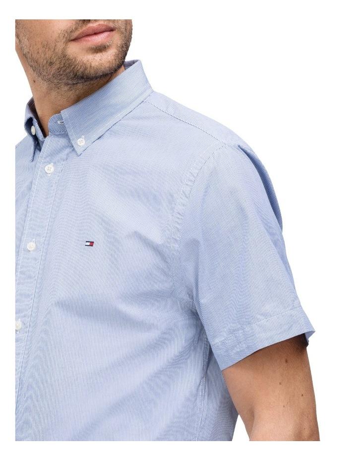 Slim Fine Stripe Short Sleeve Shirt image 3