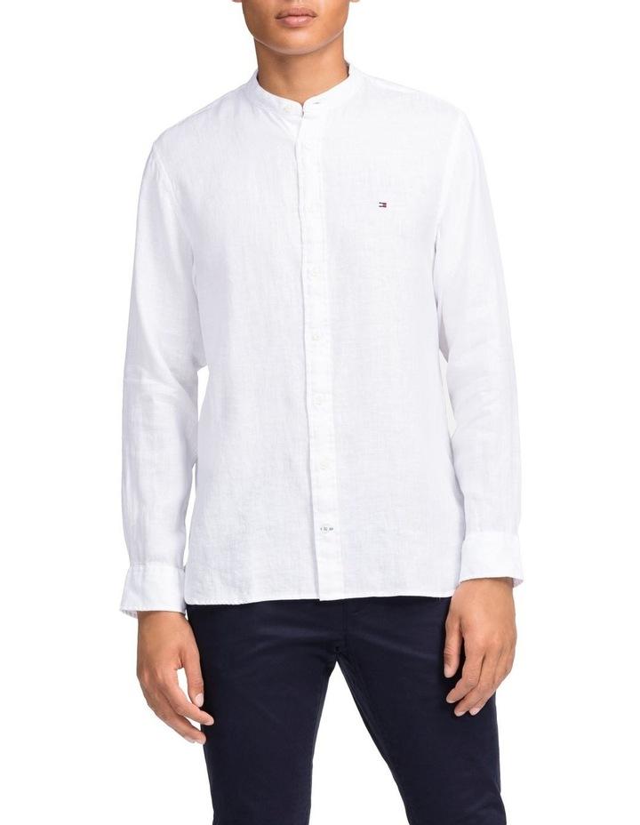 Solid Linen Long Sleeve Shirt image 1