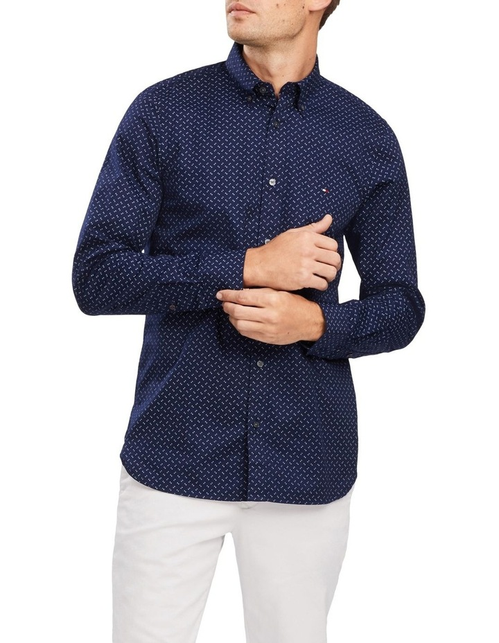 Slim Geo Print Long Sleeve Shirt image 1