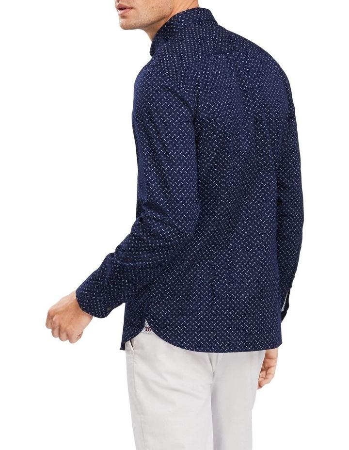 Slim Geo Print Long Sleeve Shirt image 2