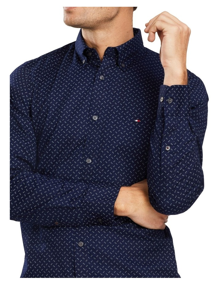 Slim Geo Print Long Sleeve Shirt image 3