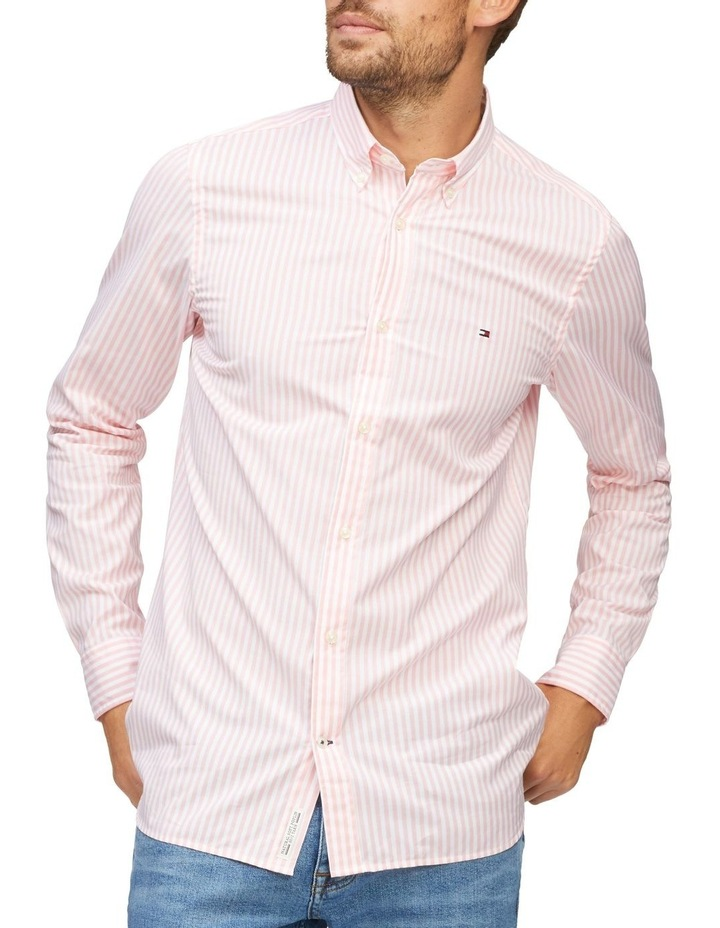 Stripe Soft Touch Slim Fit Shirt image 1
