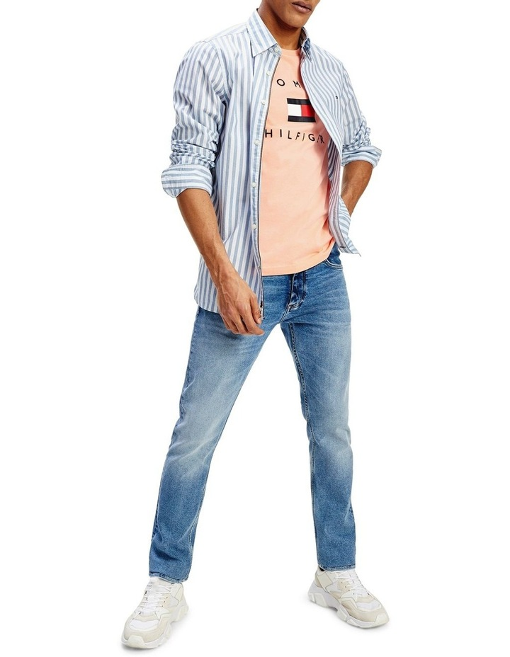 Slim Flex Houndstooth Long Sleeve Shirt image 1
