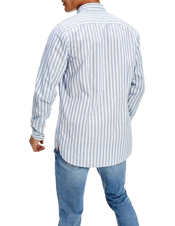 Slim Flex Houndstooth Long Sleeve Shirt image 3