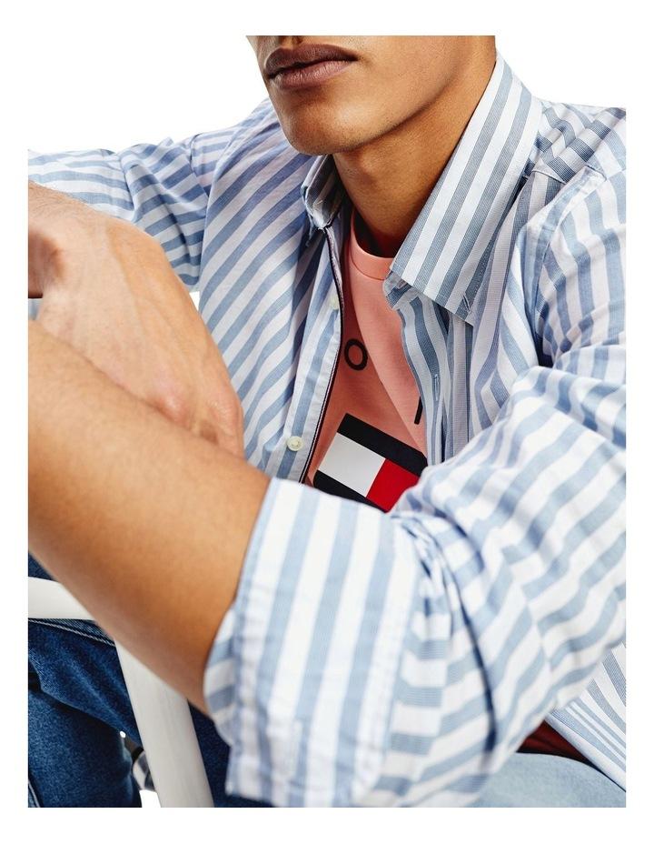 Slim Flex Houndstooth Long Sleeve Shirt image 5