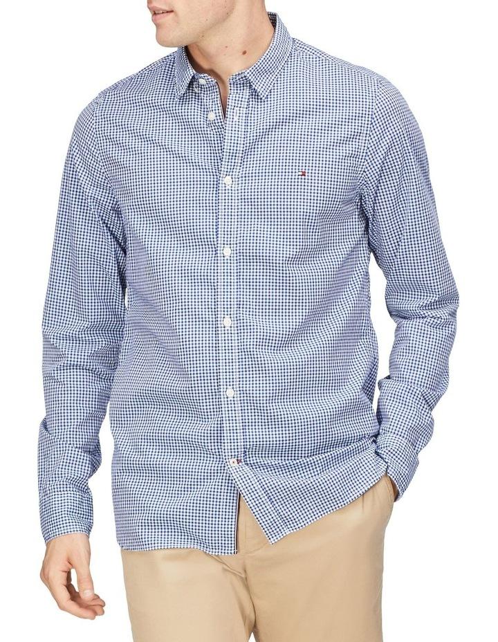 Wcc Slim Mini Dobby Check Long Sleeve Shirt image 1