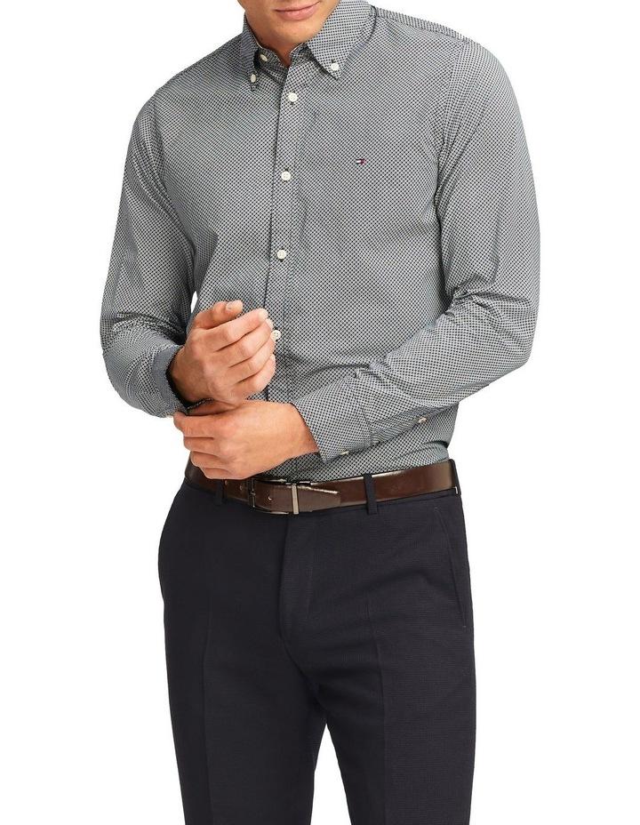 Wcc Slim Micro Flower Print Long Sleeve Shirt image 1