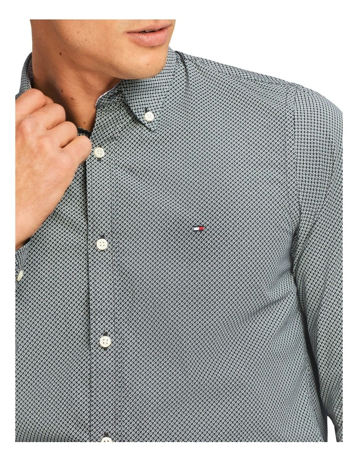 Wcc Slim Micro Flower Print Long Sleeve Shirt image 3