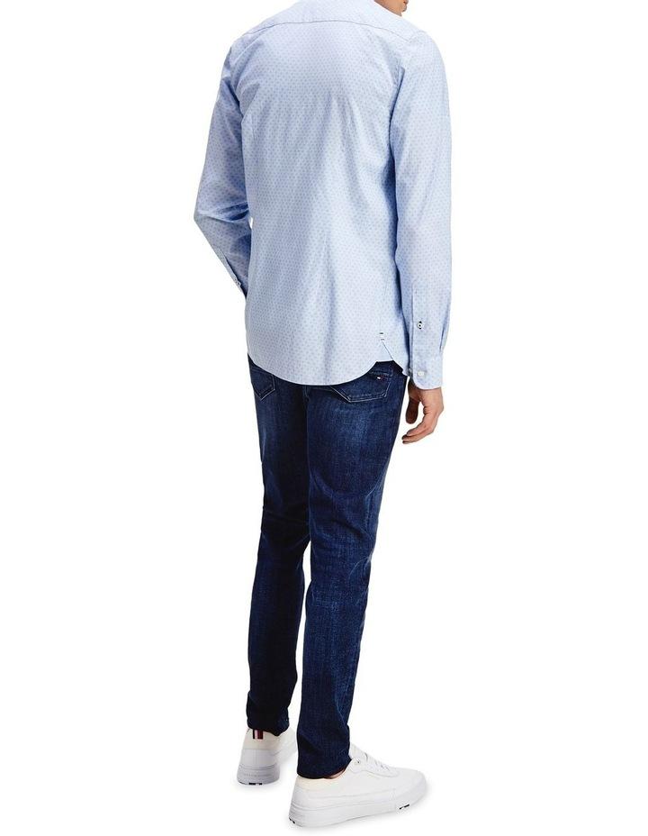 Slim Dotted Square Print Long Sleeve Shirt image 3