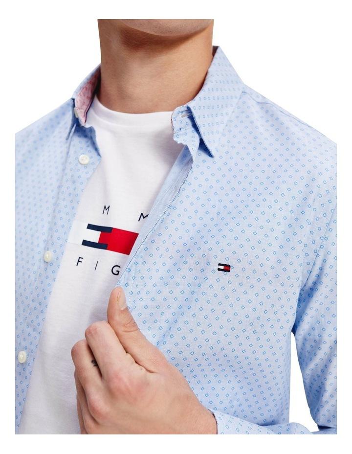 Slim Dotted Square Print Long Sleeve Shirt image 4
