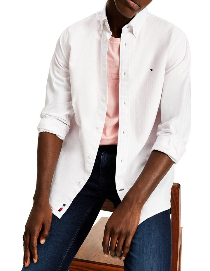 Oxford Stripe Long Sleeve Shirt image 1