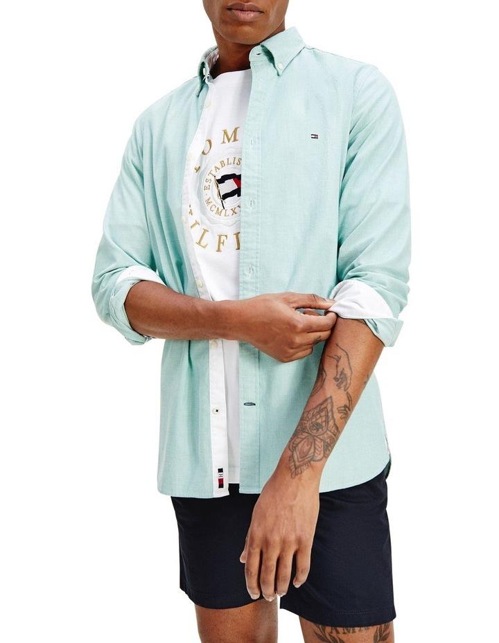 Slim Flex Dobby Long Sleeve Shirt image 1