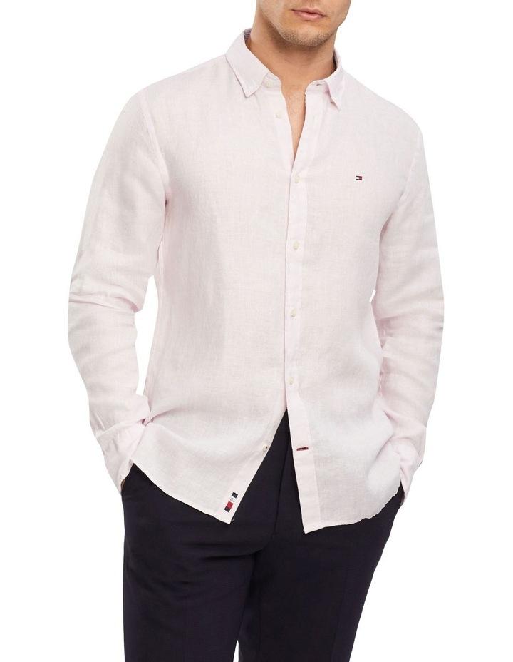 Premium Linen Shirt Pink image 1