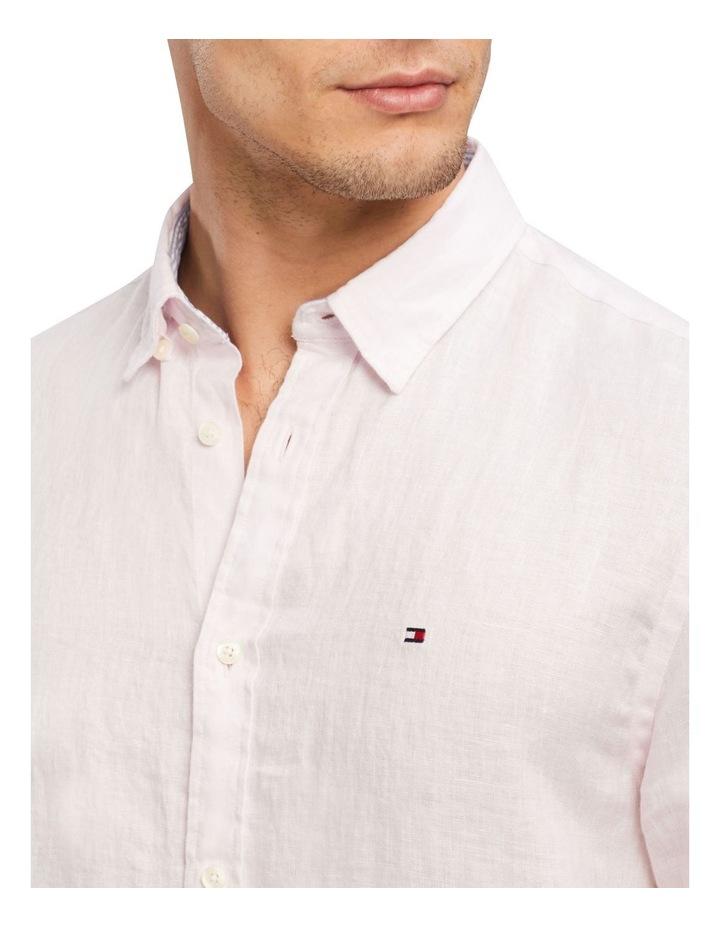 Premium Linen Shirt Pink image 3