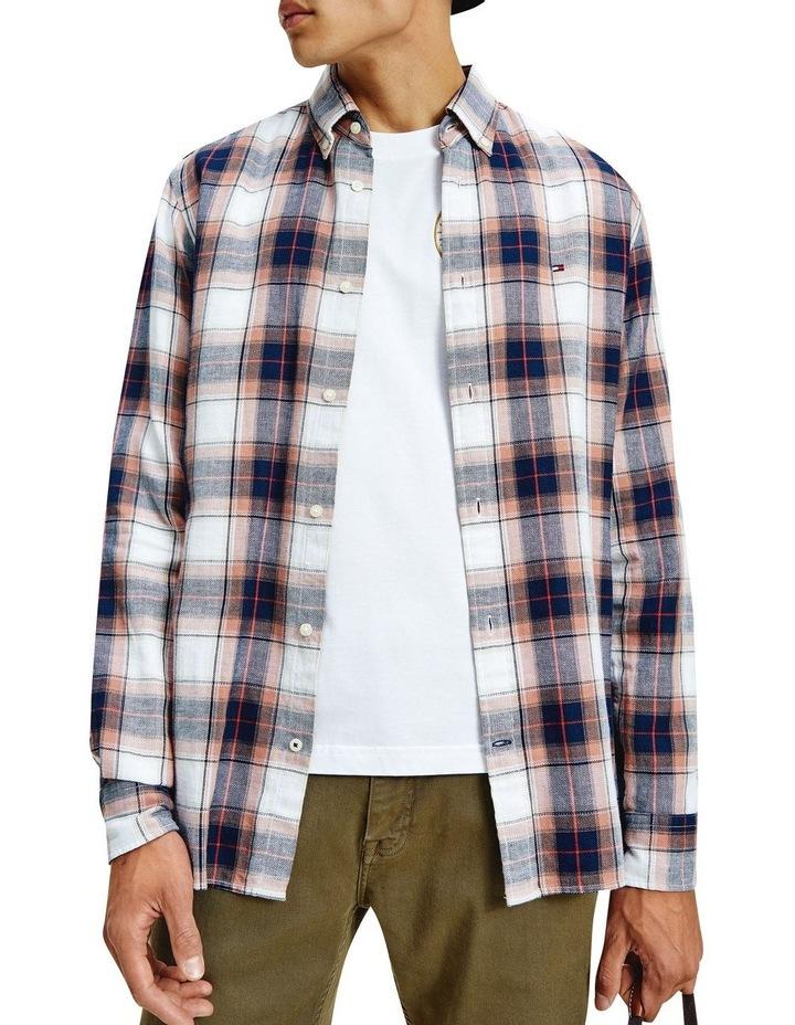 Cotton Linen Midscale Check Shirt image 1