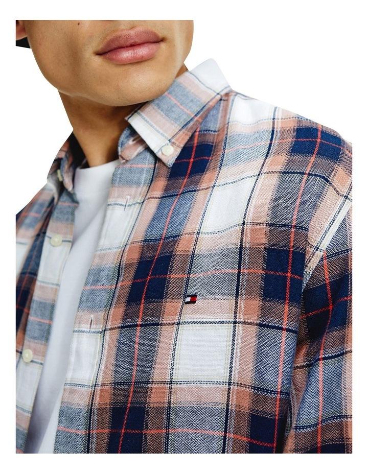 Cotton Linen Midscale Check Shirt image 4
