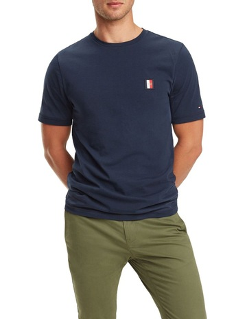 5d83902e60a Tommy HilfigerMonogram Patch Cotton T-Shirt. Tommy Hilfiger Monogram Patch  Cotton T-Shirt