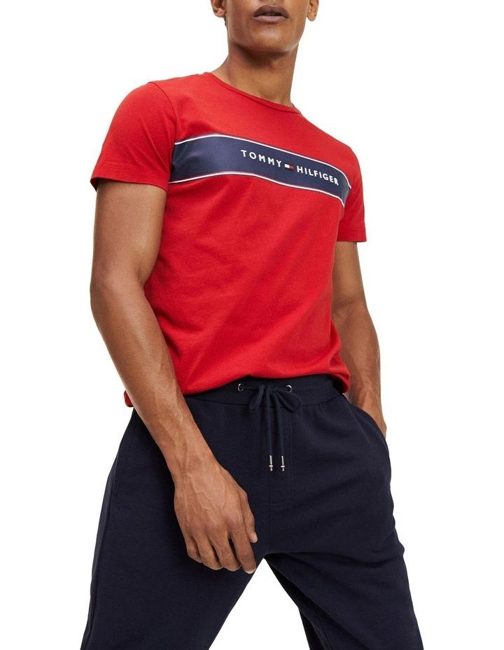 Logo Stripe Organic Cotton T-Shirt image 1