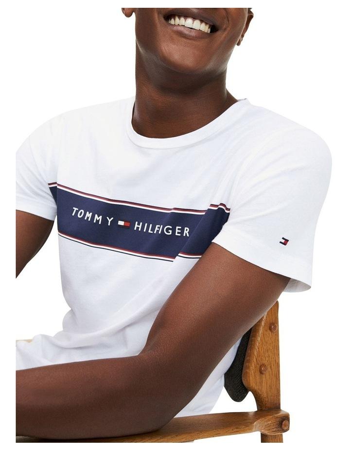 Logo Stripe Organic Cotton T-Shirt image 4