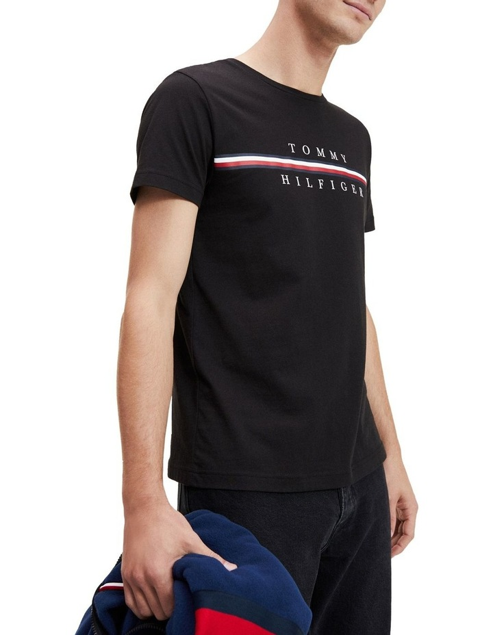 Stripe Logo Organic Cotton T-Shirt image 1