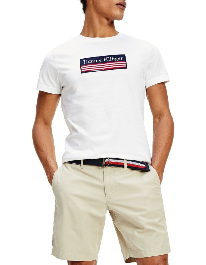 Striped Woven Label Tee image 1