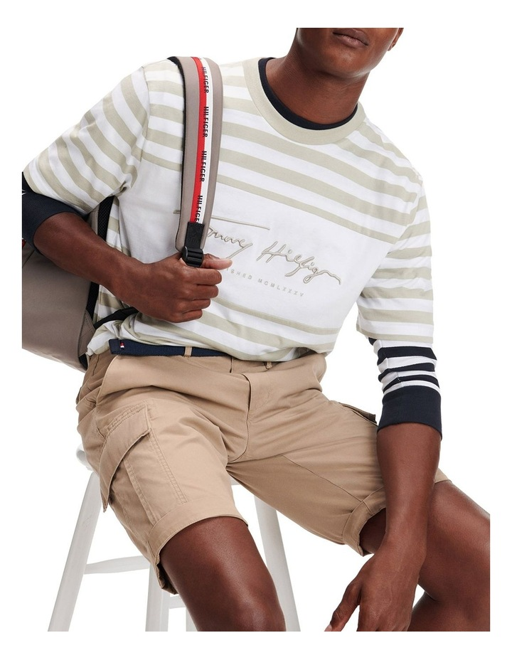 Signature Stripe Relaxed Fit Tee image 3