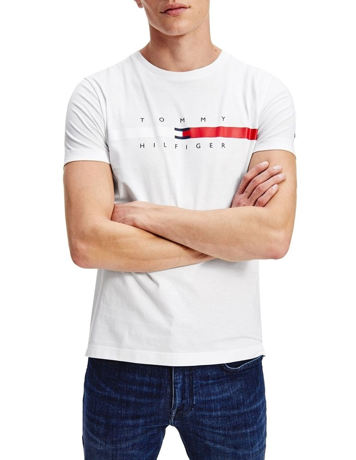 Global Stripe Chest Tee image 1