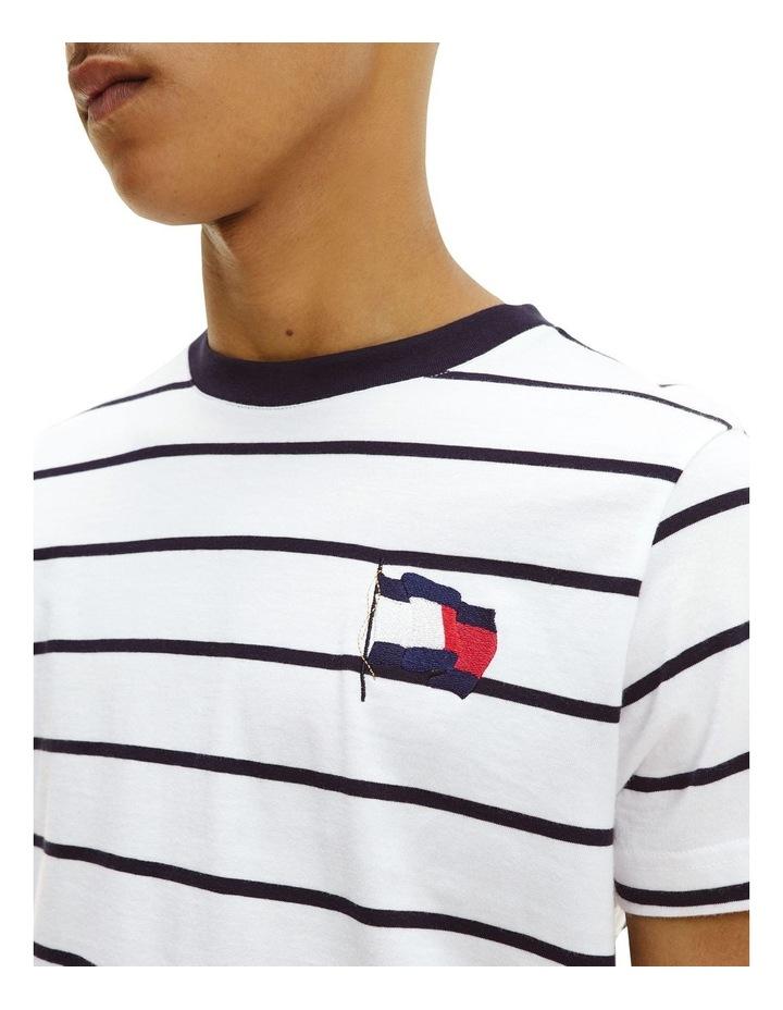 Wavy Flag Stripe Tee Ecru/Desert Sky image 3