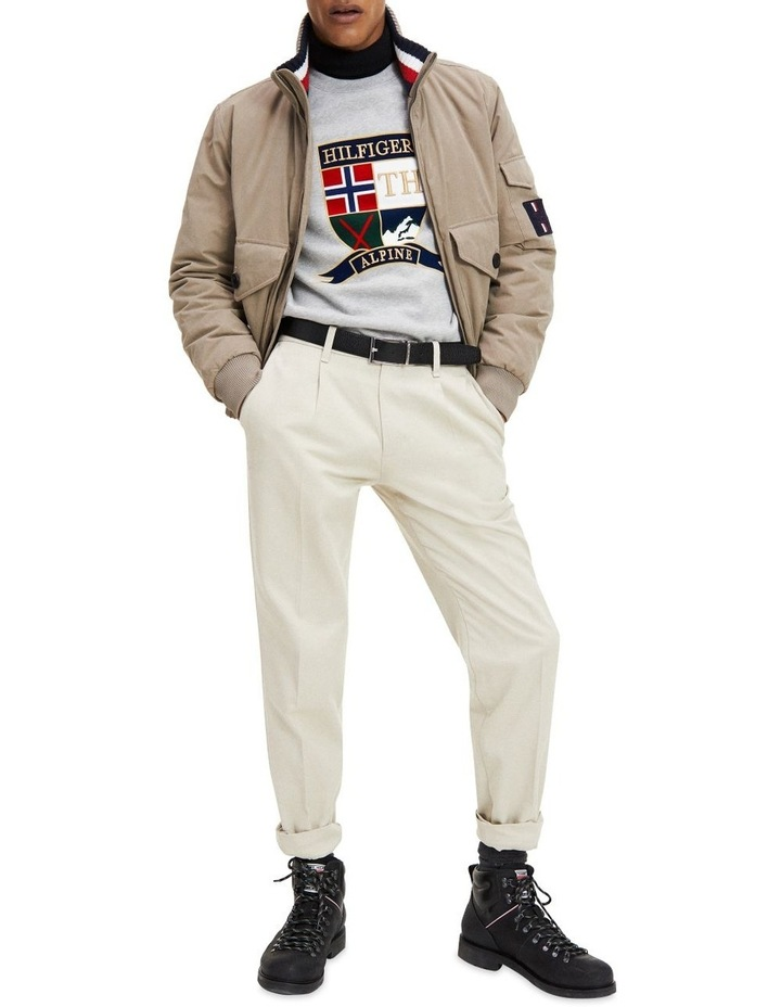 Tapered Fit Pleated Chinos image 1