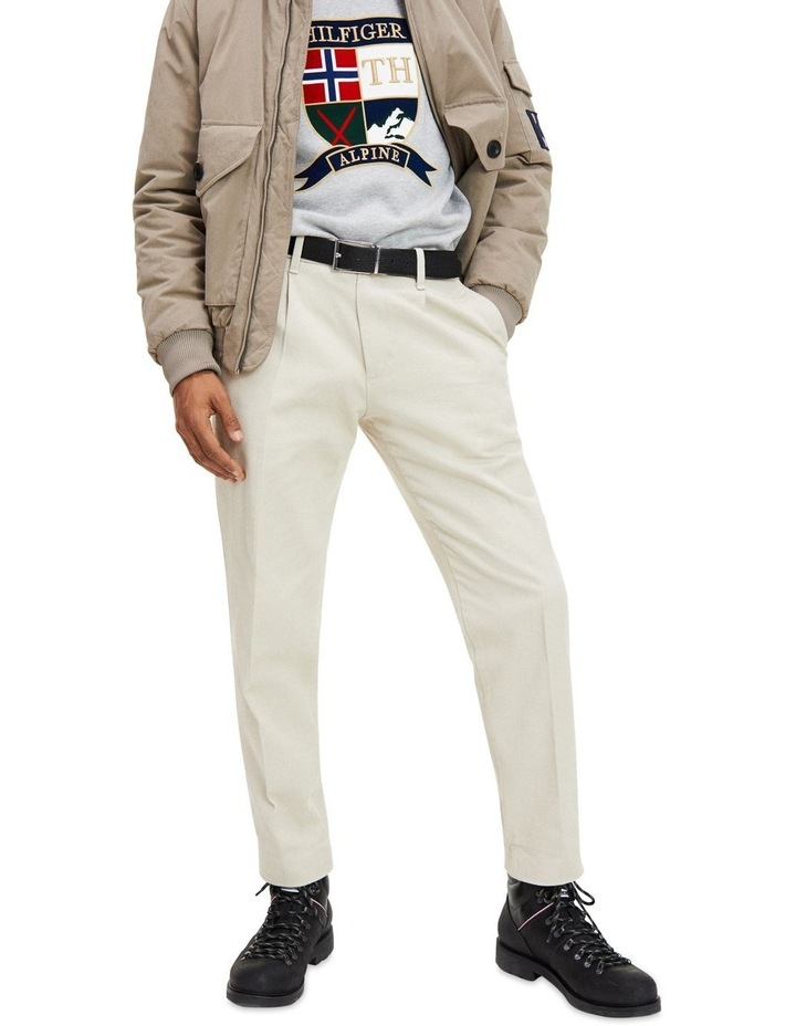 Tapered Fit Pleated Chinos image 2