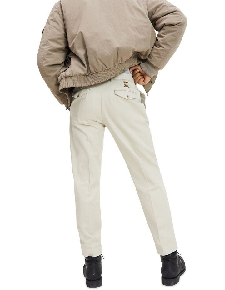 Tapered Fit Pleated Chinos image 3