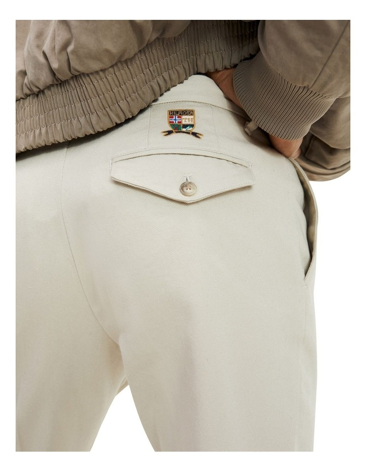 Tapered Fit Pleated Chinos image 4