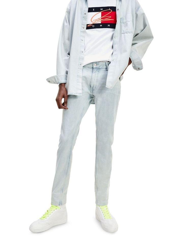 Lewis Hamilton Slim Bleach Wash Denim Jeans image 1