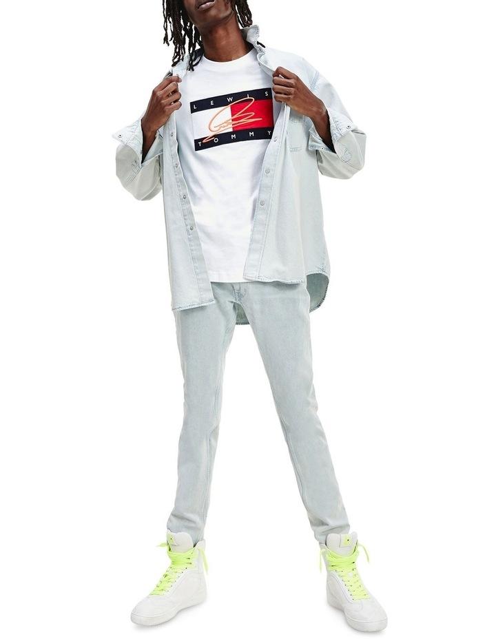 Lewis Hamilton Slim Bleach Wash Denim Jeans image 4