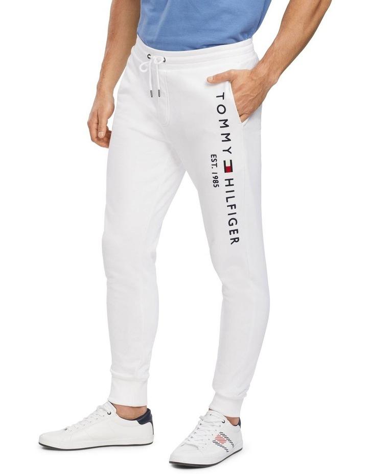 Basic Branded Sweatpants White image 1