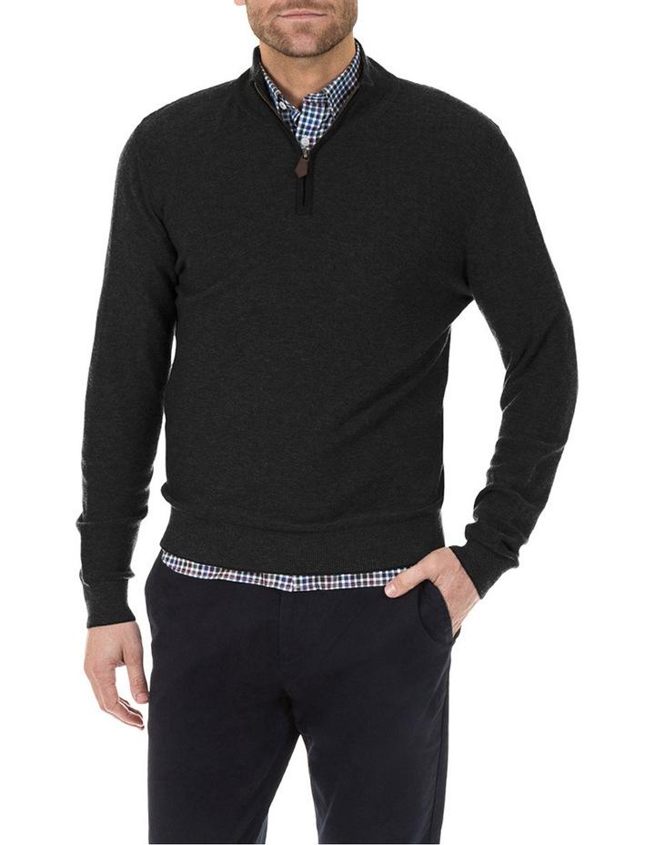 Merino / Cotton 1/2 Zip Knit image 1