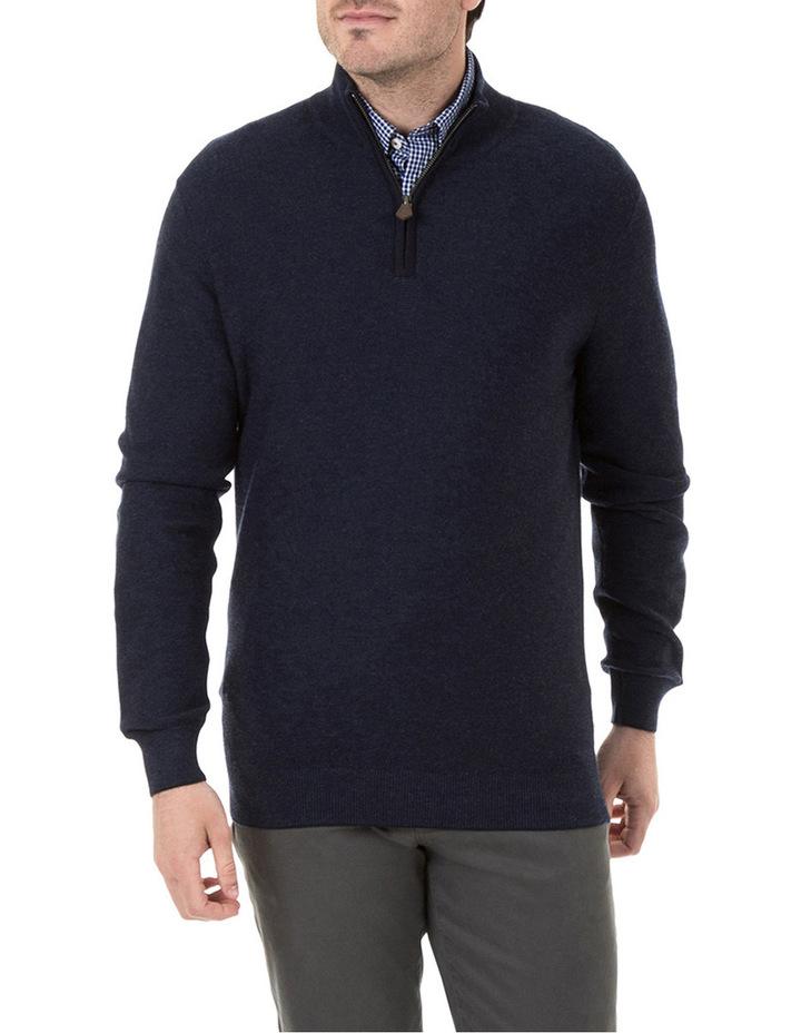 Merino/Cotton 1/2 Zip Knit image 1