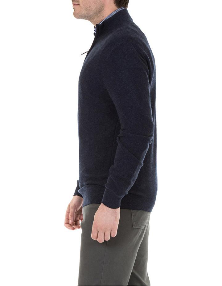 Merino/Cotton 1/2 Zip Knit image 2