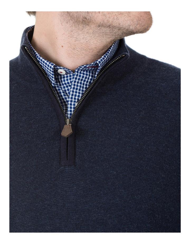 Merino/Cotton 1/2 Zip Knit image 4