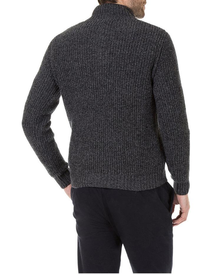Oscar Zip Neck Cotton Mix Knit image 3
