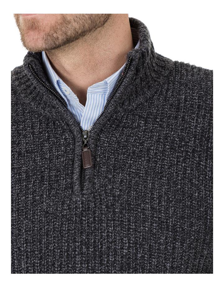 Oscar Zip Neck Cotton Mix Knit image 4