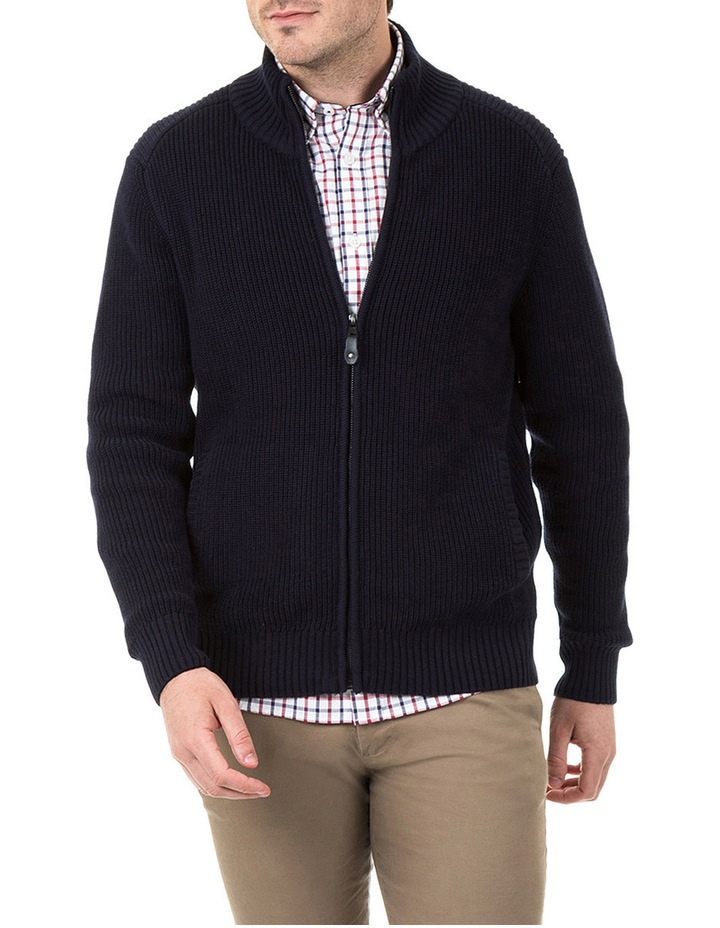 Clark Full Zip Cotton Sweater image 1